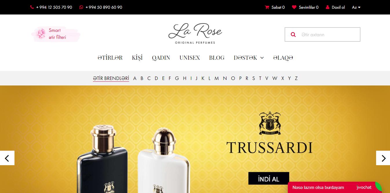 """""""Larose.az"""" onlayn-butiki"""