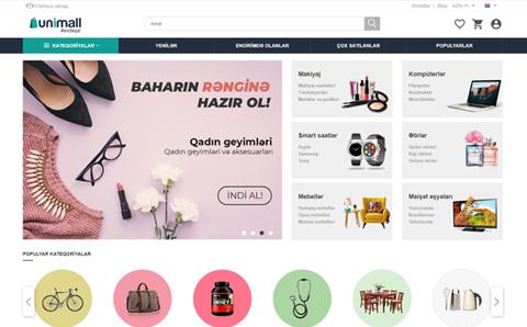 UNIMALL onlayn satış platforması