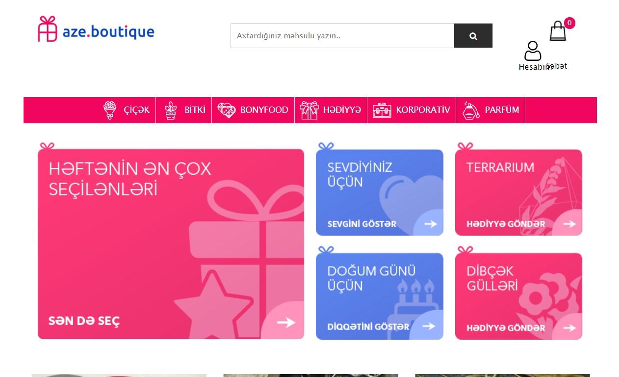 """""""Aze.Boutique"""" onlayn hədiyyə butiki"""