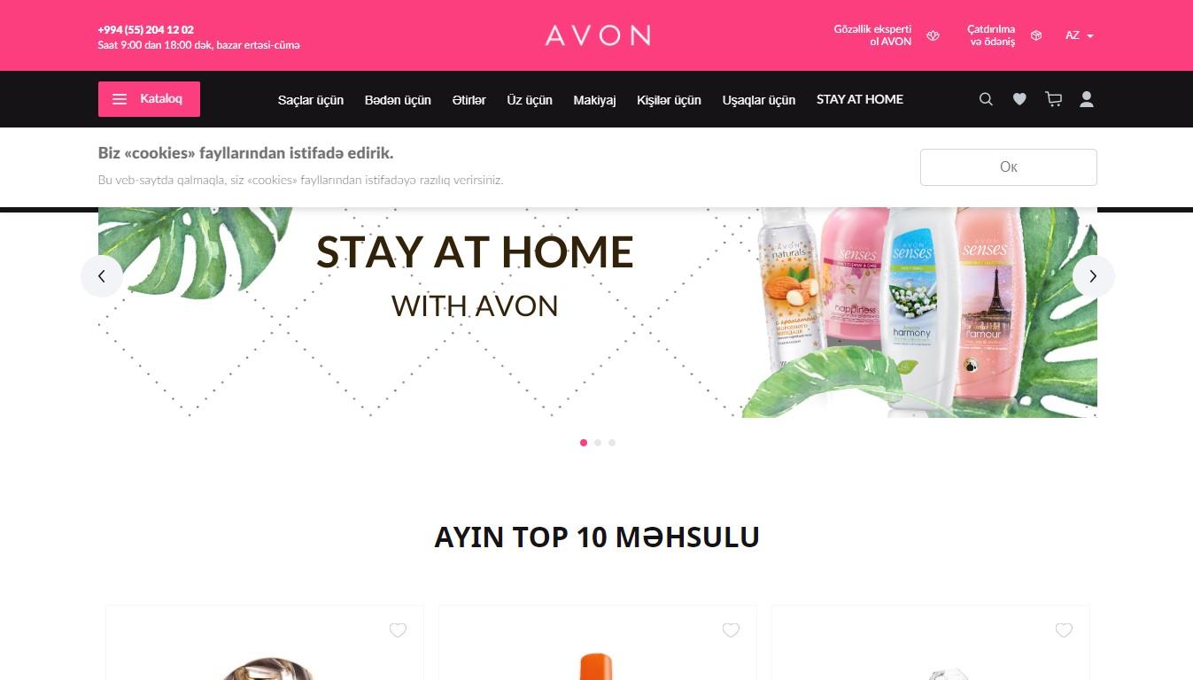 """""""AVON"""" kosmetika mağazası"""